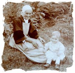 Avec sa grand mere 1926