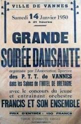Vannes 14 janvier 1950